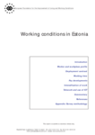 Working conditions in Estonia (report)