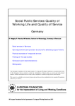 Social public services: Quality of working life and quality of service (Germany)