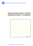 Good practice guide to internal flexibility policies in companies