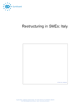 Restructuring in SMEs: Italy