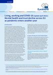Vita, lavoro e COVID-19 (aggiornamento aprile 2021): peggiorano la salute mentale e la fiducia in tutta l'UE con l'inizio di un altro anno di pandemia