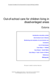 Out-of-school care for children living in disadvantaged areas - Estonia