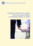Company initiatives for workers with care responsibilities for disabled children or adults