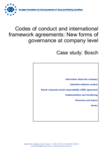 Codes of conduct and international framework agreements: New forms of governance at company level - Case study: Bosch