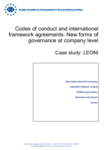 Codes of conduct and international framework agreements: New forms of governance at company level - Case study: LEONI