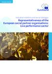 Representativeness of the European social partner organisations: Live performance sector