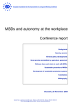 MSDs and autonomy at the workplace - Conference report