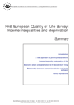 First European Quality of Life Survey: Income inequalities and deprivation (summary)