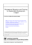 Professional education and training for sustainable development in Spain