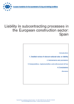 Liability in subcontracting processes in the European construction sector: Spain