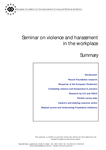 Seminar on violence and harassment in the workplace (summary)