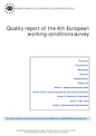 Quality report of the 4th European working conditions survey
