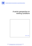 A sector perspective on working conditions