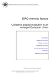 EIRO thematic feature - Collective dispute resolution in an enlarged European Union