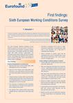 Premiers résultats: sixième enquête européenne sur les conditions de travail - Résumé