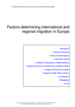 Factors determining international and regional migration in Europe