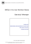 EWCs in the new Member States - Case study: Volkswagen