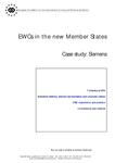 EWCs in the new Member States - Case study: Siemens
