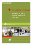 Foundation Findings - Quality of life in urban and rural Europe