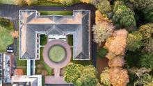 drone shot of Eurofound's building