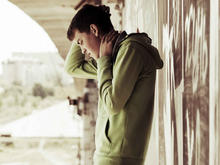 Image of distressed young teenage boy