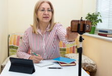 Image of woman teleworking