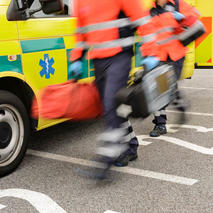 image of ambulance and paramedics